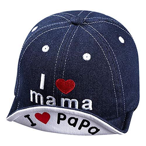 ITODA Kindercap Kinder Basecap Denim Baseball Cap Baby Baseballkappe Baumwolle Kindermütze Mädchen Junge...