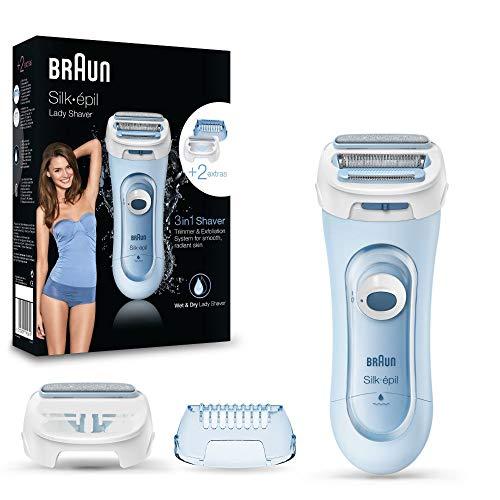 Braun Silk-epil Lady Shaver 5-160 3-In-1 Kabelloser Wet&Dry Elektrischer Damenrasierer, Trimmer- und...