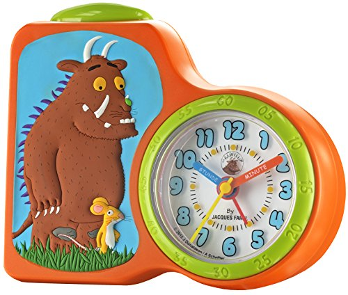 JACQUES FAREL ACBG01-OR Grüffelo Wecker Kinderwecker Kunststoff Analog Licht Alarm orange