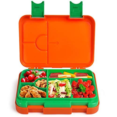 Anpro Bento Box Kinder Lunchbox - Brotbox Kinder Spülmaschinegeeignet, Brotdose mit Variablen Fächern für...