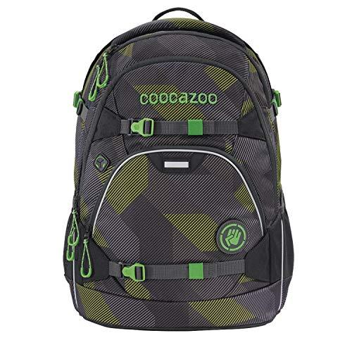 coocazoo Schulrucksack ScaleRale Polygon Bricks Grey grau-grün, ergonomischer Tornister, höhenverstellbar...