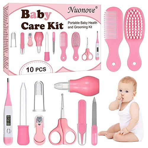 Babypflege Set, Baby Erstausstattung Pflegeset, Babypflegeset, Baby Pflegeset Neugeborene 10-teilig, mit...
