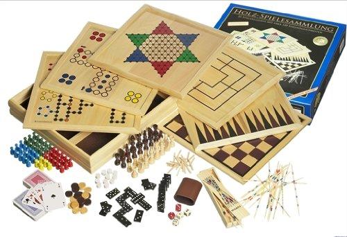 Philos: Holzspielesammlung mit 100 Spielmöglichkeiten