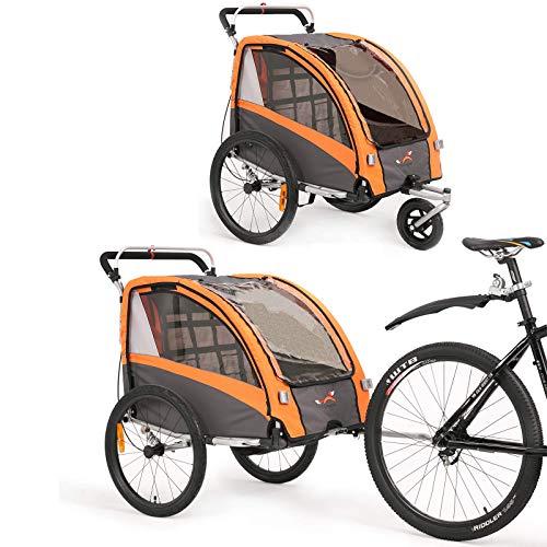 Kinderfahrradanhänger und Kinderwagen 2 in 1 Anhänger Jogger für Kinderfahrradanhänger mit Buggy-Set +...