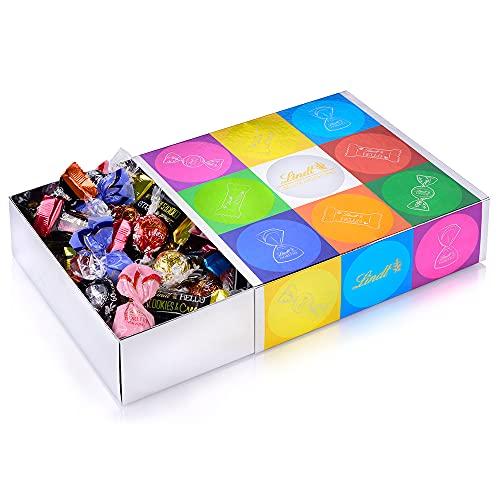 Lindt Bunte Mischung | 815g Schokolade | Box mit LINDOR Kugeln, HELLO Mini Sticks und Mini FIORETTO | Ideal...