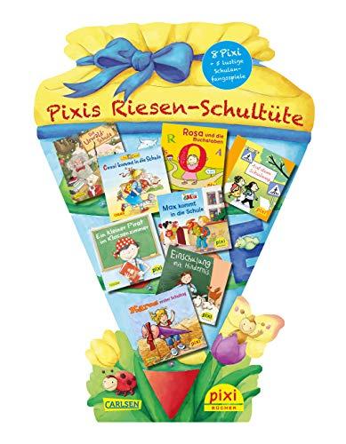 Pixis Riesen-Schultüte: 8 Pixi-Bücher und 5 lustige Spiele auf großer Stanzpappe in Schultütenform
