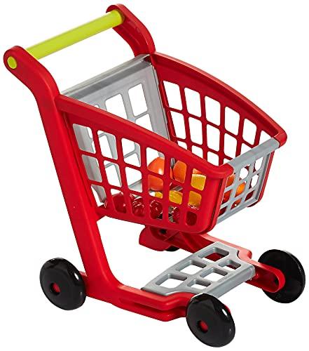 Ecoiffier – Einkaufswagen für Kinder – ideal für Kaufladen und Supermarkt, mit Spiellebensmittel, auch...