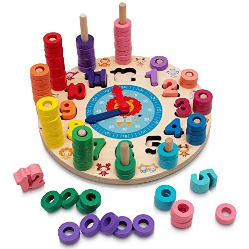 Hi!Leon® 2-in-1 Montessori Spielzeug ab 3 Jahre zum fantasieanregenden Spielen und Zahlen Lernen, Waldorf...