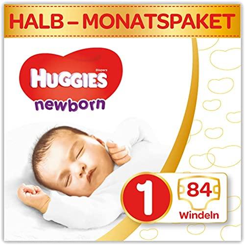 Huggies Newborn Baby Windeln Größe 1, 2 bis 5 kg, Für Neugeborene, Mit Nässeindikator, 84 Windeln,...