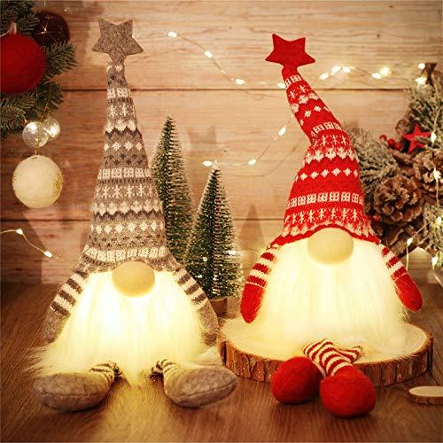 MTaoyac Weihnachten Deko Wichtel 49 cm Hoch, Schwedischen Weihnachtsmann Santa Tomte Gnom, Festliche...