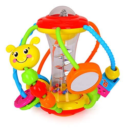 HOLA Motorikball Baby Spielzeug ab 6 Monate, Rassel Baby Greifball, Greifling, Beißring, Shake & Krabbel...