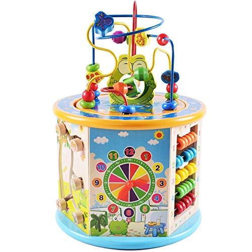 Gehirnspiel Holzaktivität Cube Music Activity Educational Game Center Baby Spielzeug Haben Geräusche for...