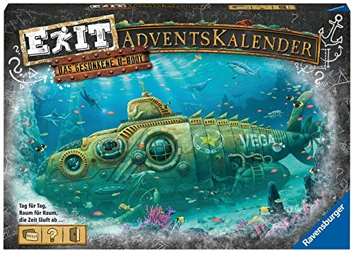 Ravensburger EXIT Adventskalender 2020 - Das gesunkene U-Boot - Ideal für Escape Room-Fans: 24 spannende...