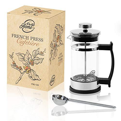Pro@Home43 French Press/Kaffeebereiter/Kaffeepresse/Cafetière/Kaffeezubereiter/aus Glas 0,35l (2 Tassen)...