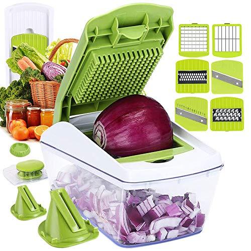 Fun Life Gemüseschneider Spiralschneider Gemüsehacker, Obstschneider, Kartoffelschneider, Zwiebelschneider,...