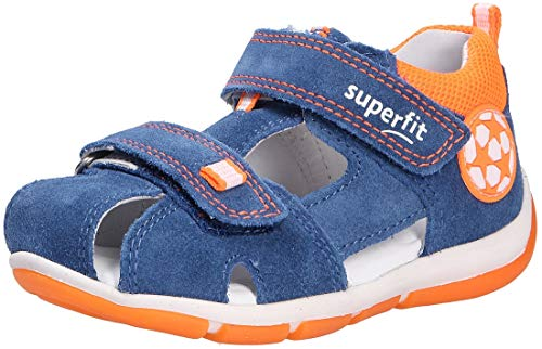 Superfit Baby Jungen Freddy Sandalen, (Blau/Orange 80), 27 EU