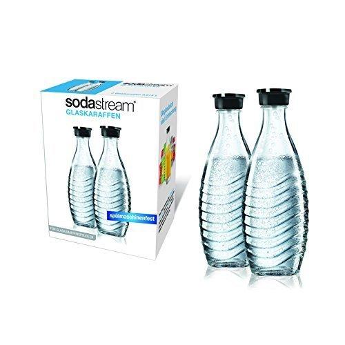 SodaStream Glaskaraffe für Crystal 2 x 0,6L und Penguin Wassersprudler (spülmaschinenfest mit fest...