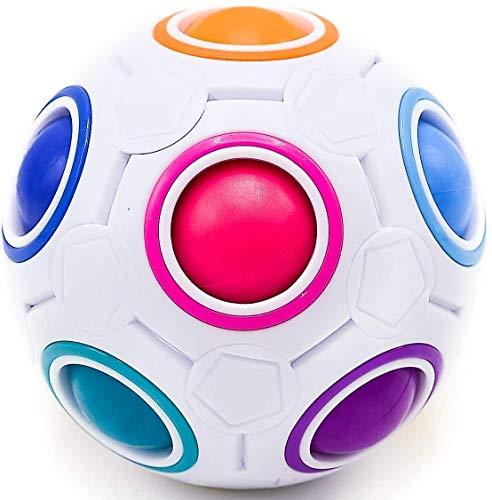 CUBIDI® Regenbogenball mit 11 Kugeln - Geschicklichkeitsspiel - Spannendes Knobelspiel für Kinder und...