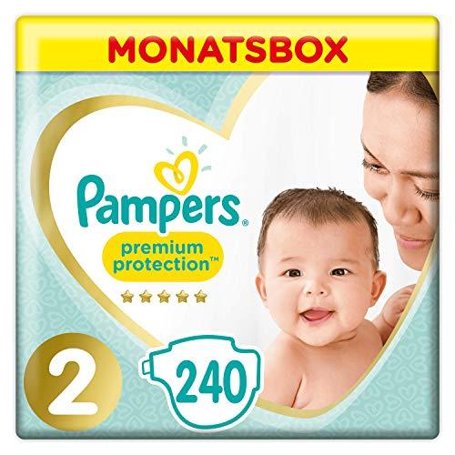 Pampers Premium Protection Windeln, Gr. 2, 4-8kg, Monatsbox (1 x 240 Windeln), Pampers Weichster Komfort Und...