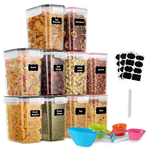GoMaihe 1.6L Vorratsdosen 10 Set, Aufbewahrungsbox Küche Luftdicht Behälter aus Plastik Mit Deckel,...