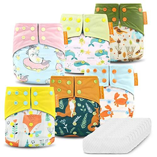 HyAdierTech Baby Windelhose Windeln Trainerhosen, Stoffwindeln Windelhose Baby Set, Wiederverwendbar,...