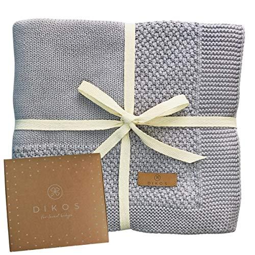 Babydecke Baumwolle grau | 100% GOTs BIO Neugeborenen Decke | leichte atmungsaktive Baby Sommerdecke mit...