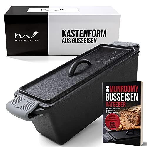 MUNROOMY Gusseisen Brotbackform mit Deckel - flexibel einsetzbar & extrem langlebig - Gusseisen Kastenform...
