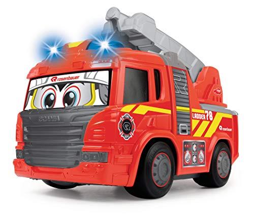 Dickie Toys 203814016 Happy Fire Engine, Scania, Feuerwehrauto mit Licht & Sound, motorisiert, fährt...