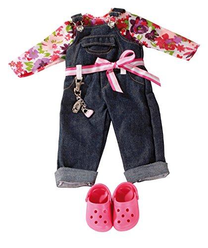 Götz 3402191 Kombination Denim Latzhose Charming - Set Puppenbekleidung Gr. XL - 6-teiliges Bekleidungs- und...