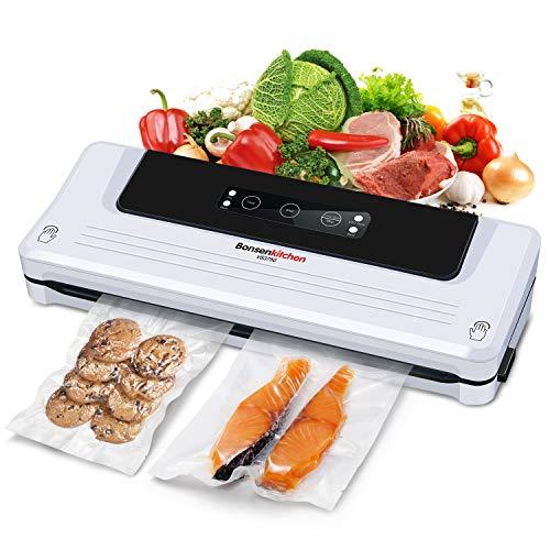 Bonsenkitchen Vakuumiergerät, Vakuumierer Folienschweißgerät für Sous Vide Kochen und Lebensmittel Bleiben...