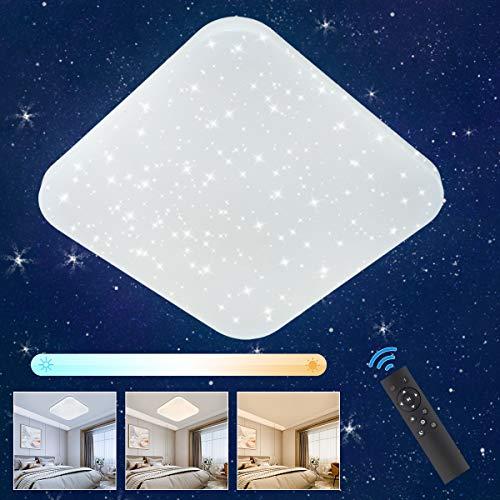 LED Deckenleuchte Sternenhimmel Dimmbar, Oeegoo 24W LED Deckenlampe mit Fernbedienung, 2050LM LED Starlight...