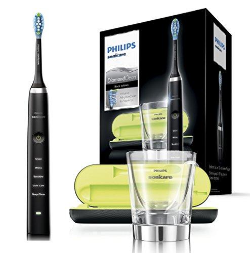 Philips Sonicare DiamondClean Elektrische Zahnbürste HX9359/89, Schallzahnbürste mit 5 Putzprogrammen,...