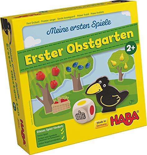 Haba 4655 - Meine ersten Spiele Erster Obstgarten, unterhaltsames Brettspiel rund um Farben und Formen ab 2...