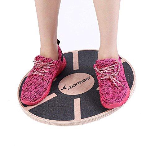 Sportneer Balance Board Wackelbrett Holz Durchmesser 40cm Gleichgewicht Board- professionel für die Übung,...