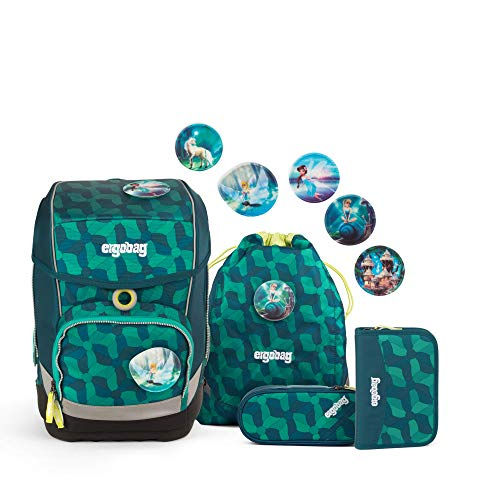Ergobag cubo WunderBär, ergonomischer Schulrucksack, Set 5-teilig, 19 Liter, 1.100 g, blau