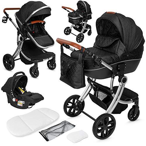 ib style® OLINA 3 in 1 Kinderwagen   Kombikinderwagen   inkl. Babyschale/Autositz   separater Buggy Aufsatz  ...