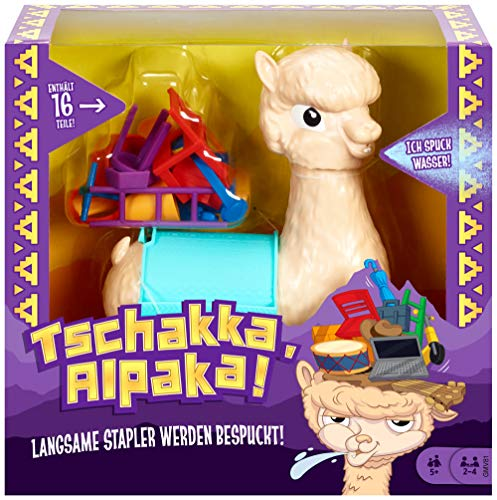 Mattel Games GMV81 - Tschakka Alpaka lustiges Kinderspiel und Partyspiel ab 5 Jahren, Partyspiele für 2-4...