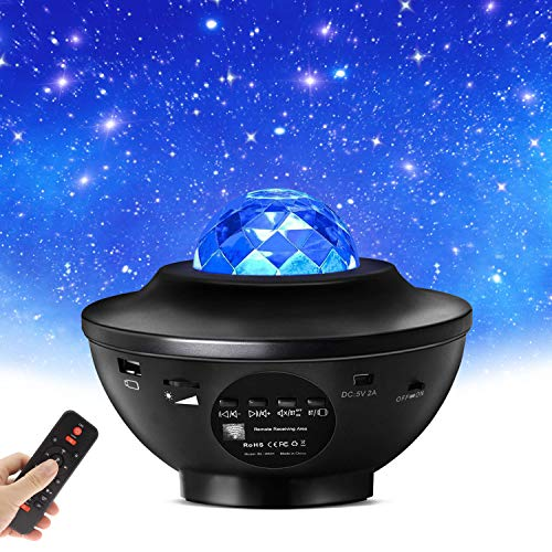 Sternenhimmel Projektor Starry Projector Light - LED Galaxy Light Projector mit Wasserwellen und...