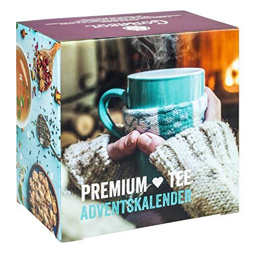 Premium Tee-Adventskalender 2020 XL, 24 weihnachtliche Gourmet-Teesorten, 192 g loser Tee, Geschenk-Idee für...