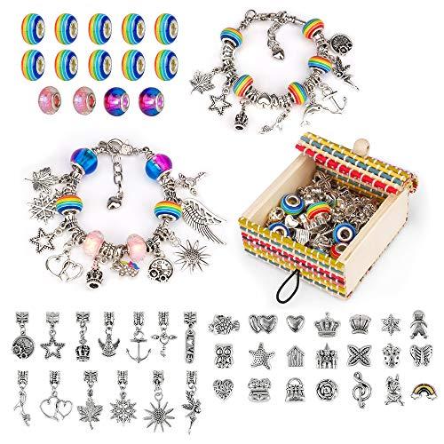 Little Guy Geschenke für 7 8 9 10 11-jährige Mädchen, Armbandschmuck-Kit für 7-10-jährige Mädchen...