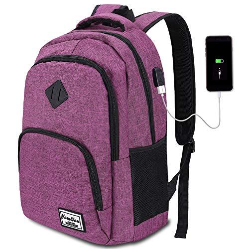 YAMTION Schulrucksack für Damen and Mädchen,Laptop Rucksack mit 15.6 Zoll Laptopfach für Schule Arbeit...