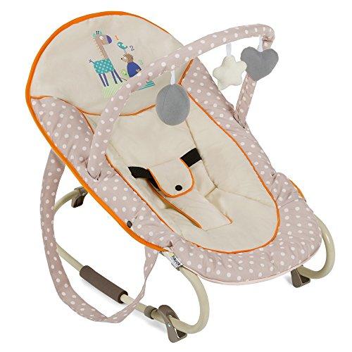 Hauck Bungee Deluxe Babywippe ab Geburt bis 9 kg mit Schaukelfunktion, Spielbogen, verstellbare Rückenlehne,...