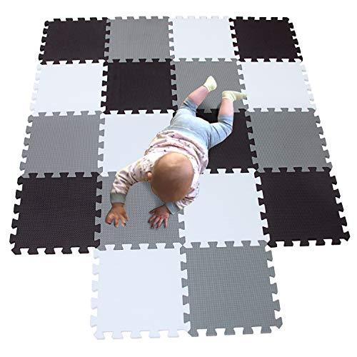 MQIAOHAM 18 pcs krabbeldecke wasserdicht teppich kinder matte für baby puzzle boden matten play gym...