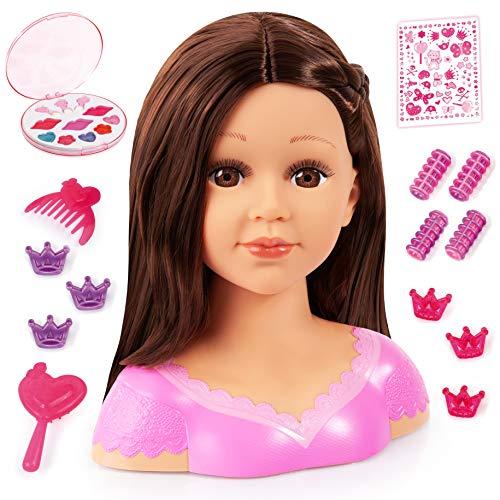 Bayer Design 90088AK Charlene Super Model Styling Head, Schminkkopf, Frisierkopf inklusive Kosmetik und...