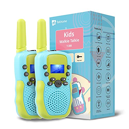 TekHome Spielzeug 3 4 5 6 7 Jahren Junge, Walkie Talkie Kinder 3km mit Taschenlampe, Junge 8 9 10 Jahre,...