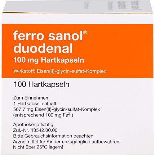 ferro sanol duodenal Hartkapseln gegen Eisenmangel, 100 St. Kapseln