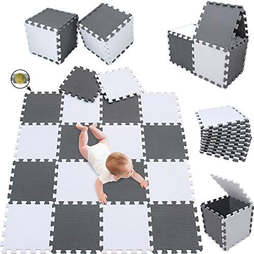 meiqicool Stylische Puzzlematte für Babys und Kinder   1cm Dicker Spielmatte   Schadstofffrei, geruchlos,...