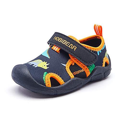 Sandalen für Kleinkinder und Kinder Quick Dry Closed-Toe Slipper Aquatic Sport Strand Wasserschuhe (Jungen,...