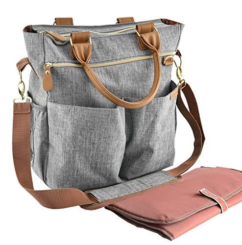 Wickeltasche mit Wickelunterlage – ELLA AMIE – Wickeltasche – Mama-Tasche für das Krankenhaus –...