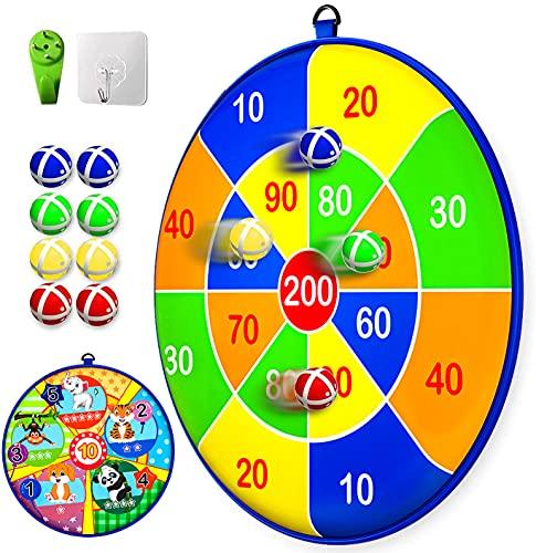 Lbsel Sportspielzeug Dartscheibe Set,8 Klett Sticky Balls mit 2 Haken, Gartenspiele für...